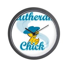 Lutheran Chick #3 Wall Clock