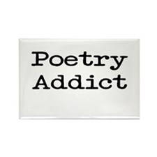 Poetry Addict Rectangle Magnet