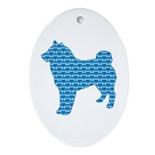Bone Sheepdog Oval Ornament