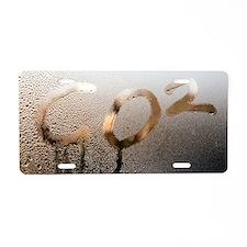Global warming, conceptual  Aluminum License Plate