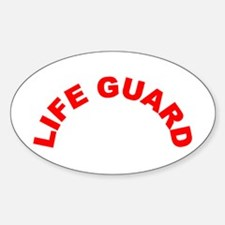 Life Guard Oval Decal