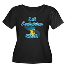 Lab Tech Women's Plus Size Dark Scoop Neck T-Shirt