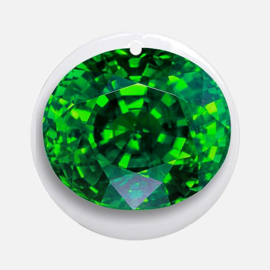Emerald Round Ornament