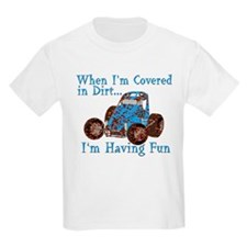 Boys Get Messy (Wingless) Kids T-Shirt