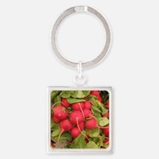 bunch of radishes with some brocco Square Keychain