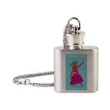 Beautiful Muchacha Dancing Cow Flask Necklace
