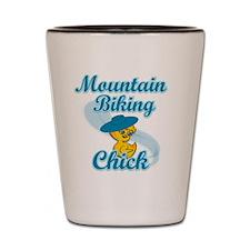 Mountain Biking Chick #3 Shot Glass