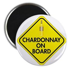 Chardonnay on Board Magnet