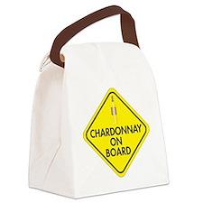 Chardonnay on Board Canvas Lunch Bag