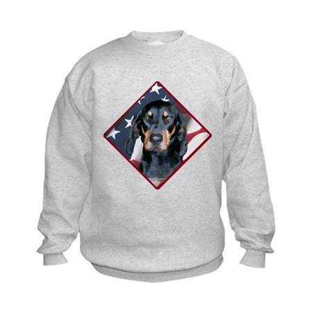 Black & Tan Flag 2 Kids Sweatshirt