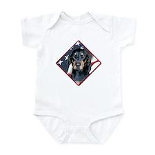 Black & Tan Flag 2 Infant Bodysuit