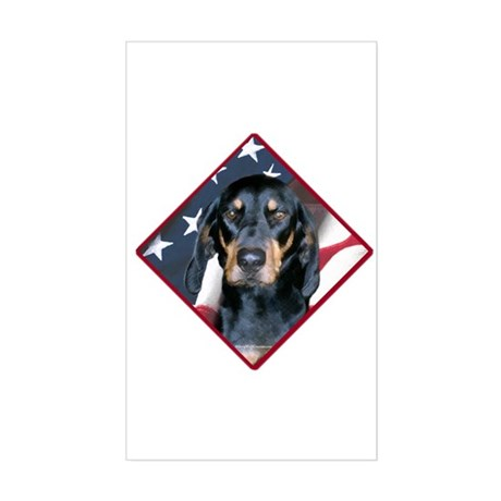 Black & Tan Flag 2 Rectangle Sticker