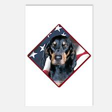 Black & Tan Flag 2 Postcards (Package of 8)