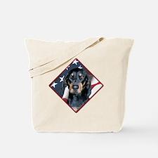 Black & Tan Flag 2 Tote Bag