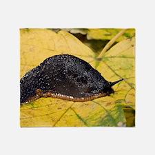 Great black slug Throw Blanket