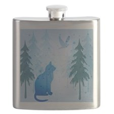Cool Cat Shower Curtain Flask