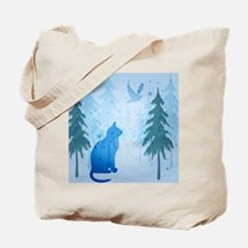 Cool Cat Shower Curtain Tote Bag