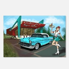 1957 Classic Car-Car Hop  Postcards (Package of 8)