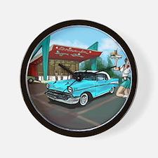 1957 Classic Car-Car Hop Pin-up Wall Clock