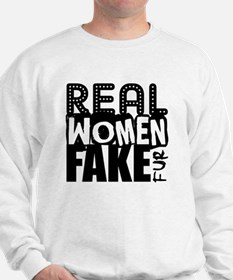 Real Women Fake Fur Sweatshirt