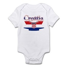 Cute Croatia ribbon Infant Bodysuit