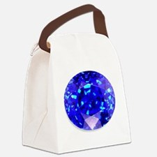 Sapphire Canvas Lunch Bag