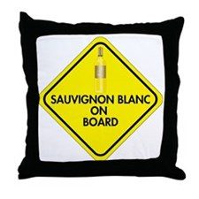 Sauvignon Blanc on Board Throw Pillow