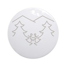 Parks Recreation Ale (White Text) Round Ornament