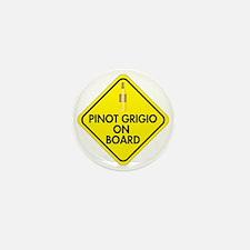 Pinot Grigio on Board Mini Button