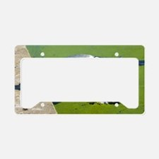 Grey heron License Plate Holder