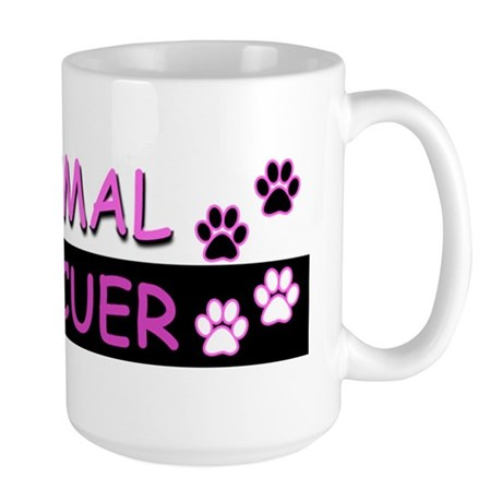 ANIMAL RESCUER (Purple) Large Mug