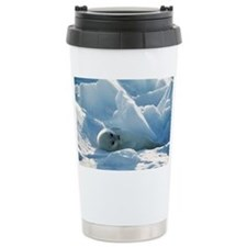 Harp seal pup Travel Mug