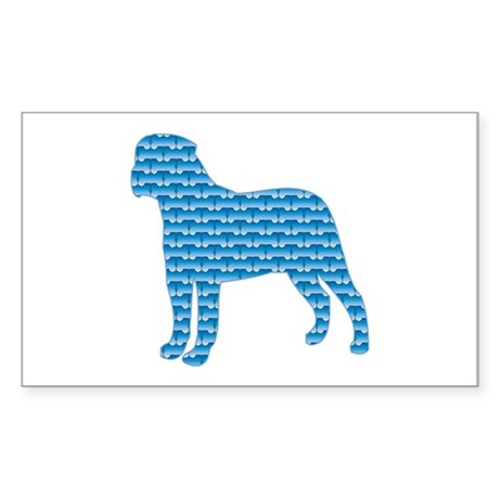 Bone Bullmastiff Rectangle Sticker