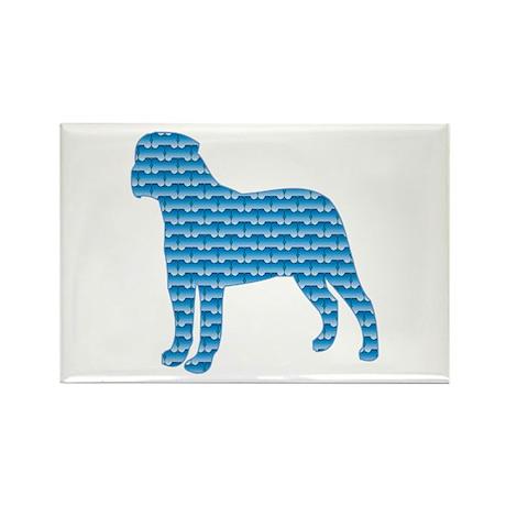 Bone Bullmastiff Rectangle Magnet (100 pack)