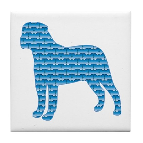 Bone Bullmastiff Tile Coaster