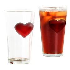 I Heart Borneo Drinking Glass