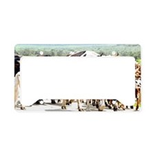 Herd of cows and goats License Plate Holder