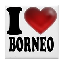 I Heart Borneo Tile Coaster
