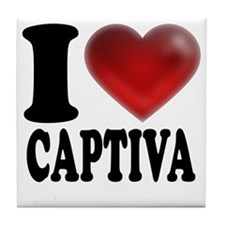 I Heart Captiva Tile Coaster