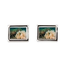 Leather coral Cufflinks