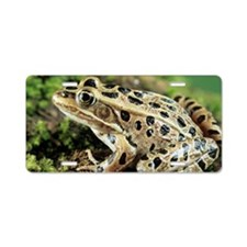 Leopard frog Aluminum License Plate