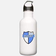 Rugby Shield White Lt Blue Water Bottle