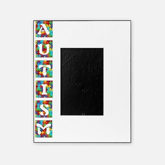 Autism Colored Puzzle Pieces Poem Picture Frame
