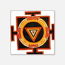 "Kali Yantra Square Sticker 3"" x 3"""