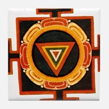 Kali Yantra Tile Coaster