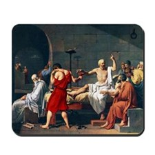 The Death of Socrates, 1787 artwork Mousepad