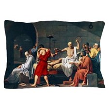 The Death of Socrates, 1787 artwork Pillow Case