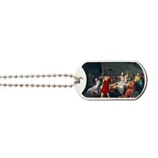 The Death of Socrates, 1787 artwork Dog Tags