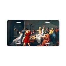 The Death of Socrates, 1787 Aluminum License Plate