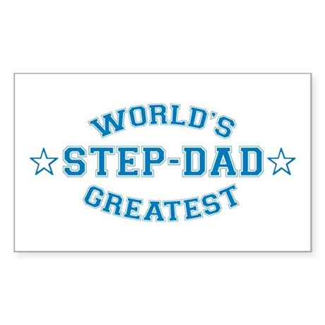 World's Greatest Step-Dad Rectangle Sticker